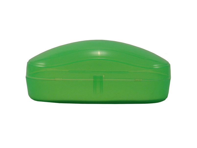 Clear plastic sunglasses case