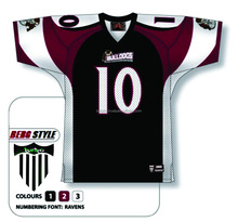 2016 new latest design of 100% polyester american football jersey with embroidery team name and own best logos/At Berg