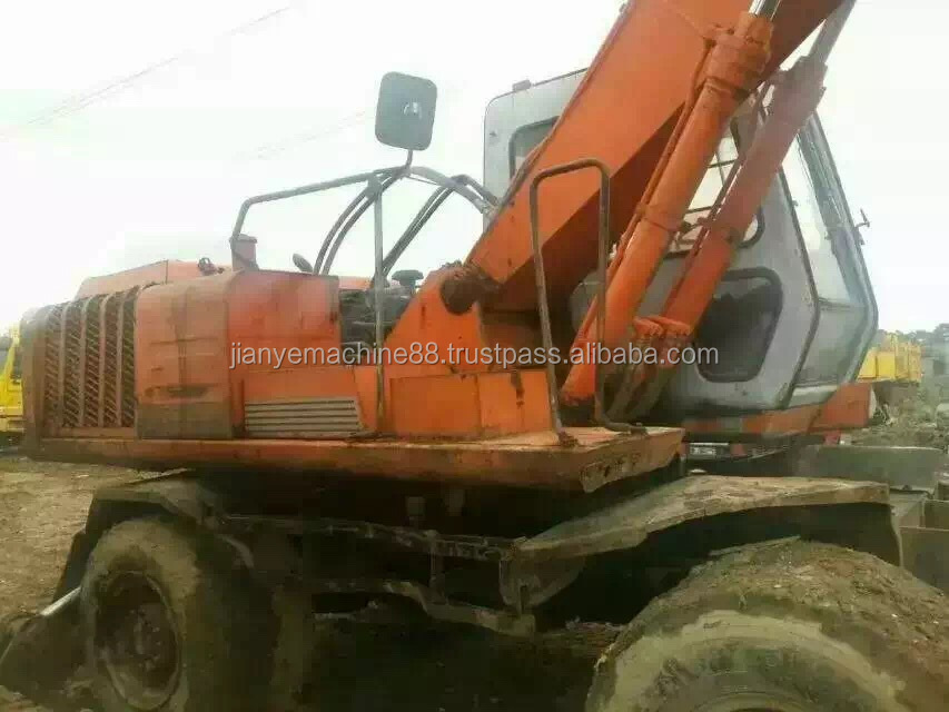 Used Hitachi EX100WD-2 Wheel Excavator Hitachi EX100WD, please contact: 0086 15026518796 for more info