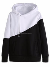 Lace up two tone hoodies/Fleece lace up two tone hoodies/Winter lace up two tone hoodies