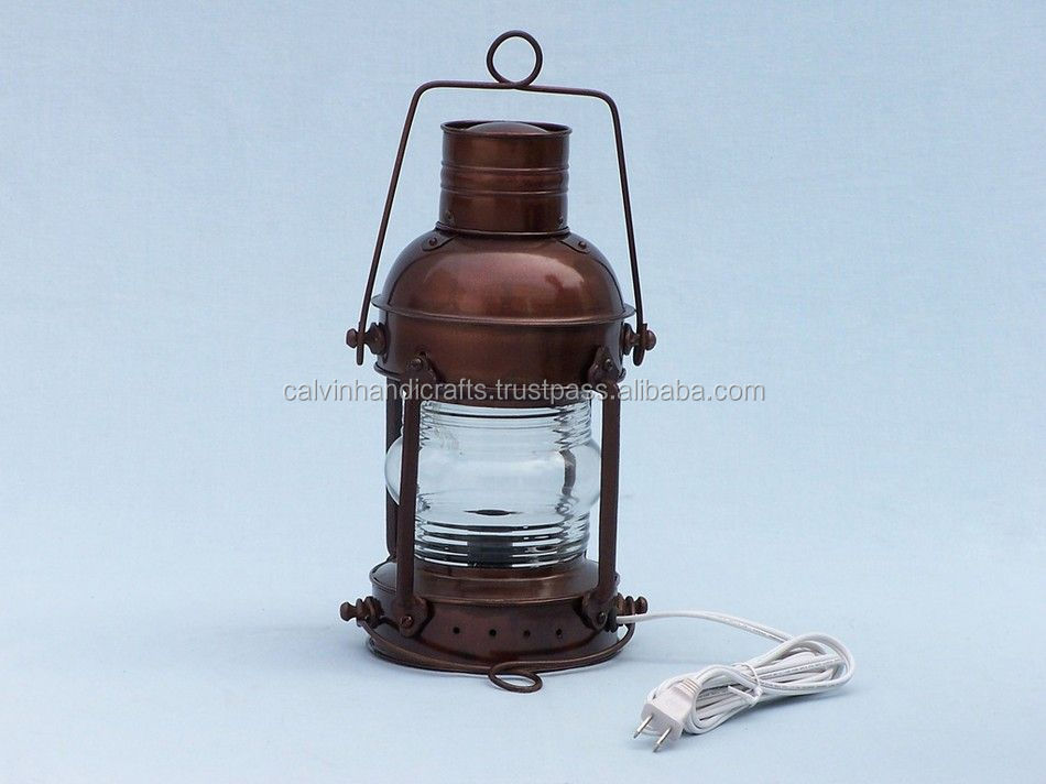 Vintage Antique Brass Nautical Ship Oil Lantern Lamp 1838