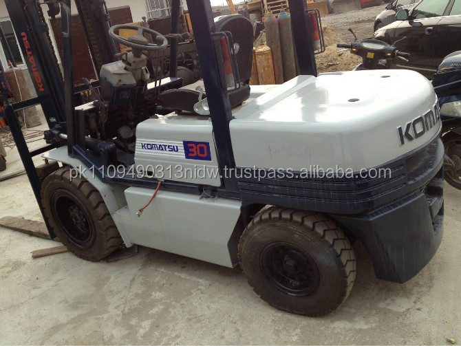 japan used diesel forklift 3 ton for sale, used komatsu diesel forklift fd30 cheap price