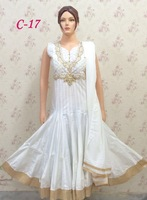 Exclusive White Anarkali With Stone Work