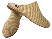 Gorgeous Moroccan Handmade Natural Raffia Fiber Slippers