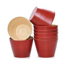 2017 High quality, cheap price outdoor flower pots, decorative item made from natural bamboo