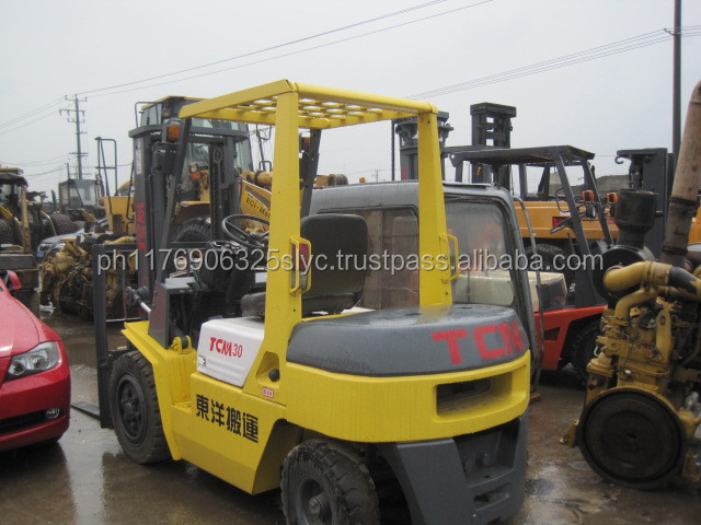 TCM FD30 for sale, used forklift 3ton tcm in shanghai japan made low price,TCM FD50 FD20 FD25 FD30 Forklift