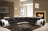 Creative multifunction leather sofa - granulated leather 1+2+3