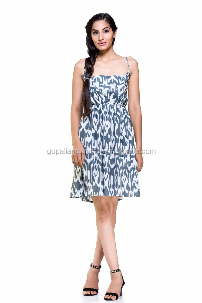 Indian Latest Women Maternity Casual Dress Pregnant Cotton Grey Clothes Ikat Pregnancy Dresses