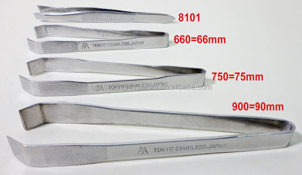 8101D / 66066D / 75075D / 90090D Stainless Steel Tweezers