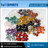 Cheap Wholesale Natural Polished Mix Agate Tumbled Stone Supplier