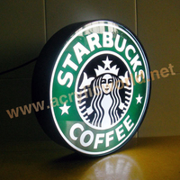 Customized advertising light box /outdoor round acrylic vacuum forming advertising led light box
