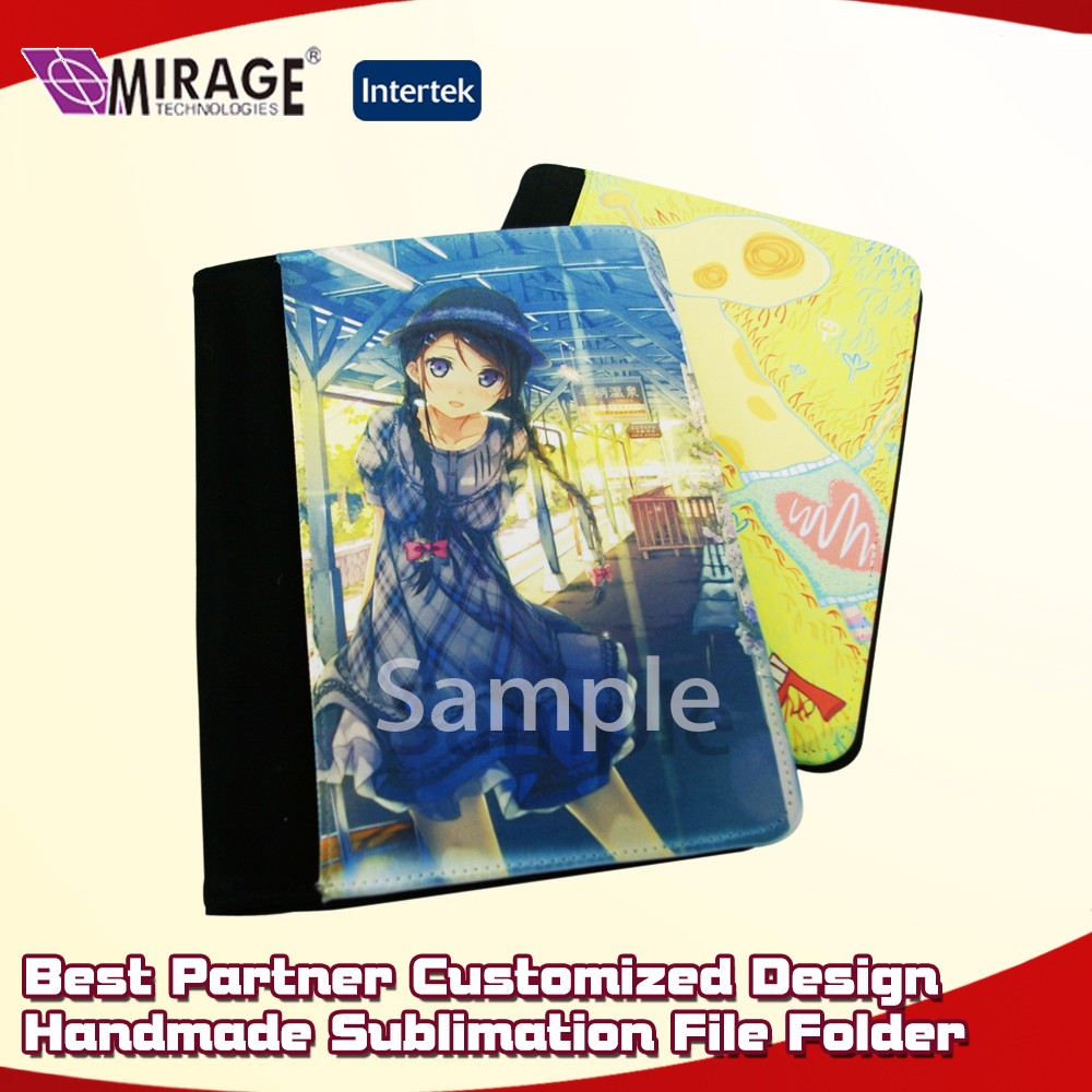 Customized Sublimation Hard Cover Hanging File Folder
