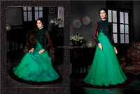 FABRIC :- SANTOON SALWAR & SOFT SATAN SILK GOWN STYLE KAMEEZ IN SOFT EMBROIDERY, SEQUINS, STONES WORK & VELVET, SEQUINS ZARI LAC