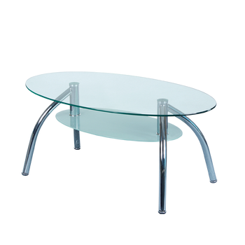 Design Clear Tempered Glass Hot Sale Coffee Table For Home