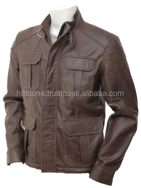 2016 pakistan Supplier Wholesale Latest Design men real Leather Jacket