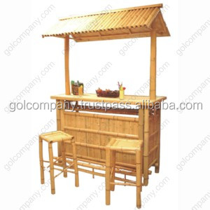 [wholesale] Bamboo bar - Natural bambus bar - Bamboo gazebo - Bamboo table, chair & stool for home