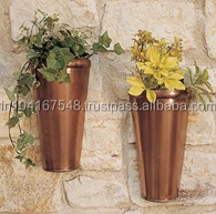 Wall Mounted Copper Planter Set of 2 pcs