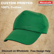 custom light green cycling hats printed