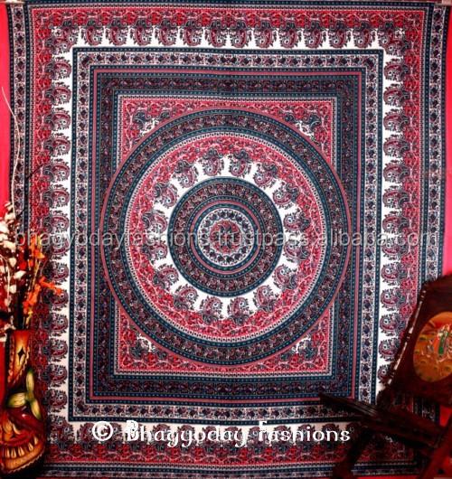 Indio mandala hippie hippy tapiz decoraci n del hogar tiro for Decoracion hogar hippie