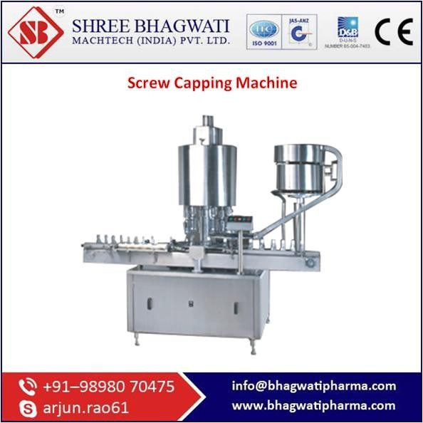 Screw Capping Machine From ISO Certified Company