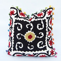 Indian Beautiful Suzani Embroidery Cushion Cover Handmade Floral Designer Pillowcases
