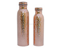 Handmade Pure Copper Design Water Bottle 600 and 900 ml