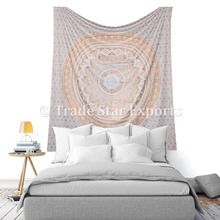 Mandala Fabric Cotton tapestry Bohemian Wall Hangings Bedding Throw Bedcover Indian Tapestries