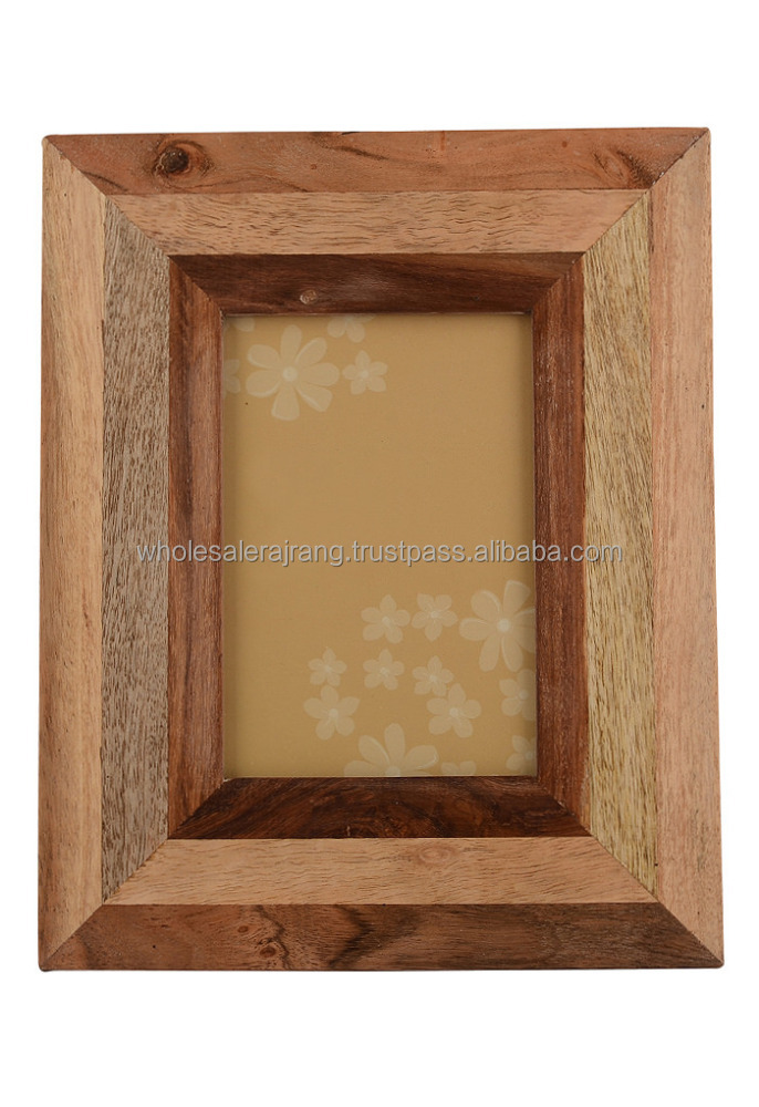Picture Photo Frame Ethnic Look Indian Wooden Fhoto Frame