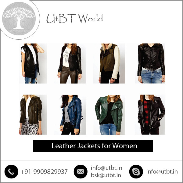 Exclusive Collection of Classic Look Leather Jacket for Women at Reasonable Price
