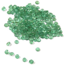 Be You Light Green Colour Natural Brazilian Emerald 2 mm Brilliant Cut Round Shape 0.76cts 20 pcs loose gemstone