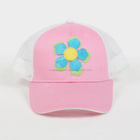 Floral Cap Ladies Pink Baseball Embroidered Hat
