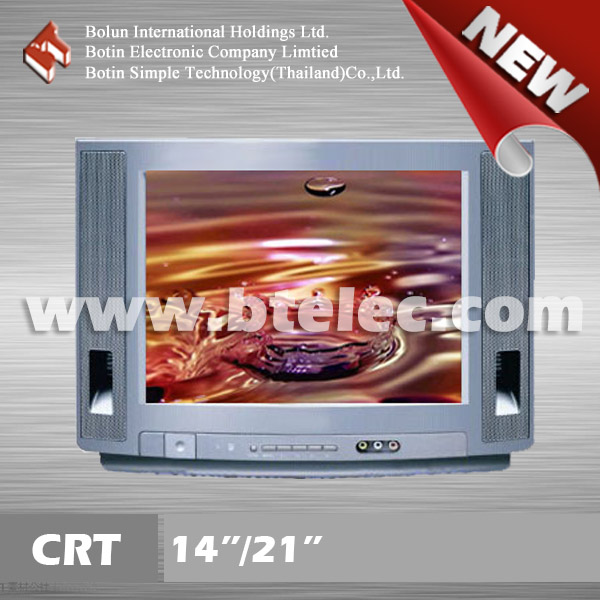 Smart definition color new style 14 inch crt tube tv