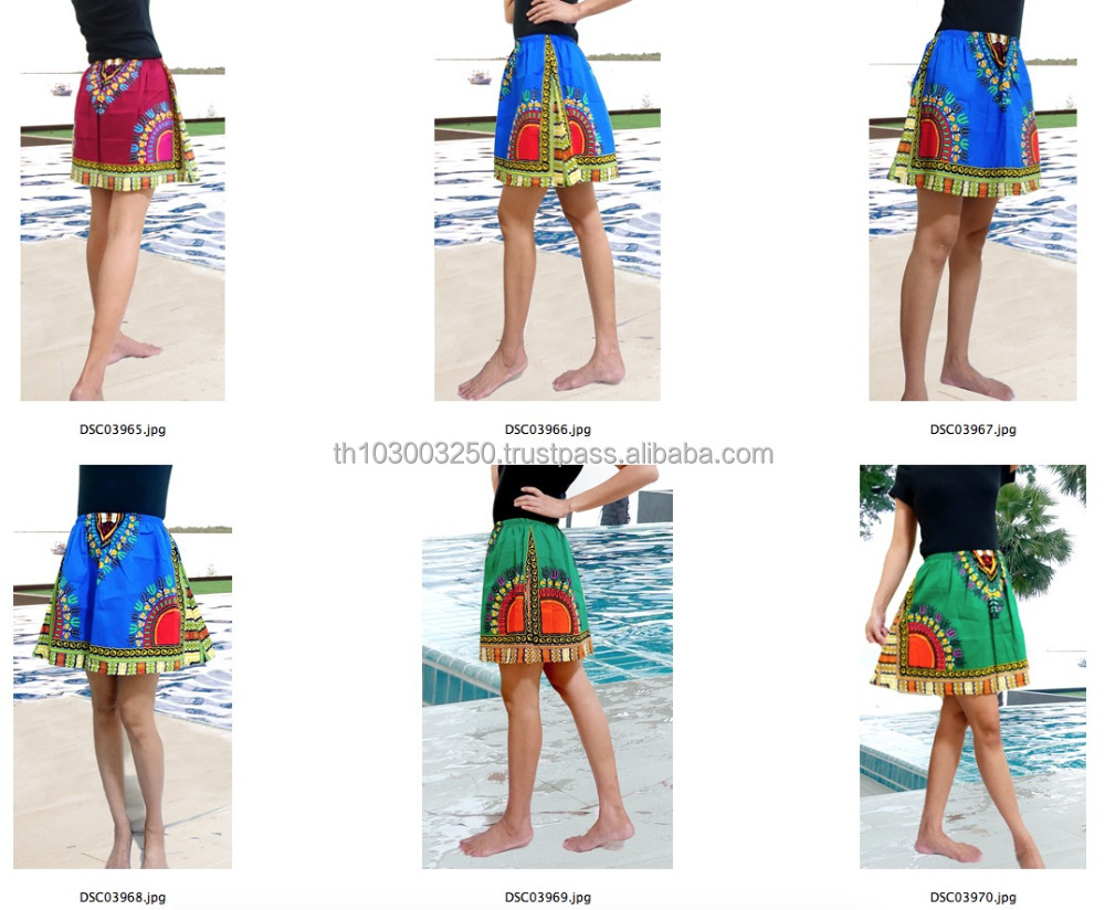 retro HIPPIE BOHO Dashiki african ethic print art music festival cotton MINI SKIRTS