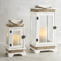Decorative Wooden Lantern for Floor and Lobby | Wood Candle Lantern