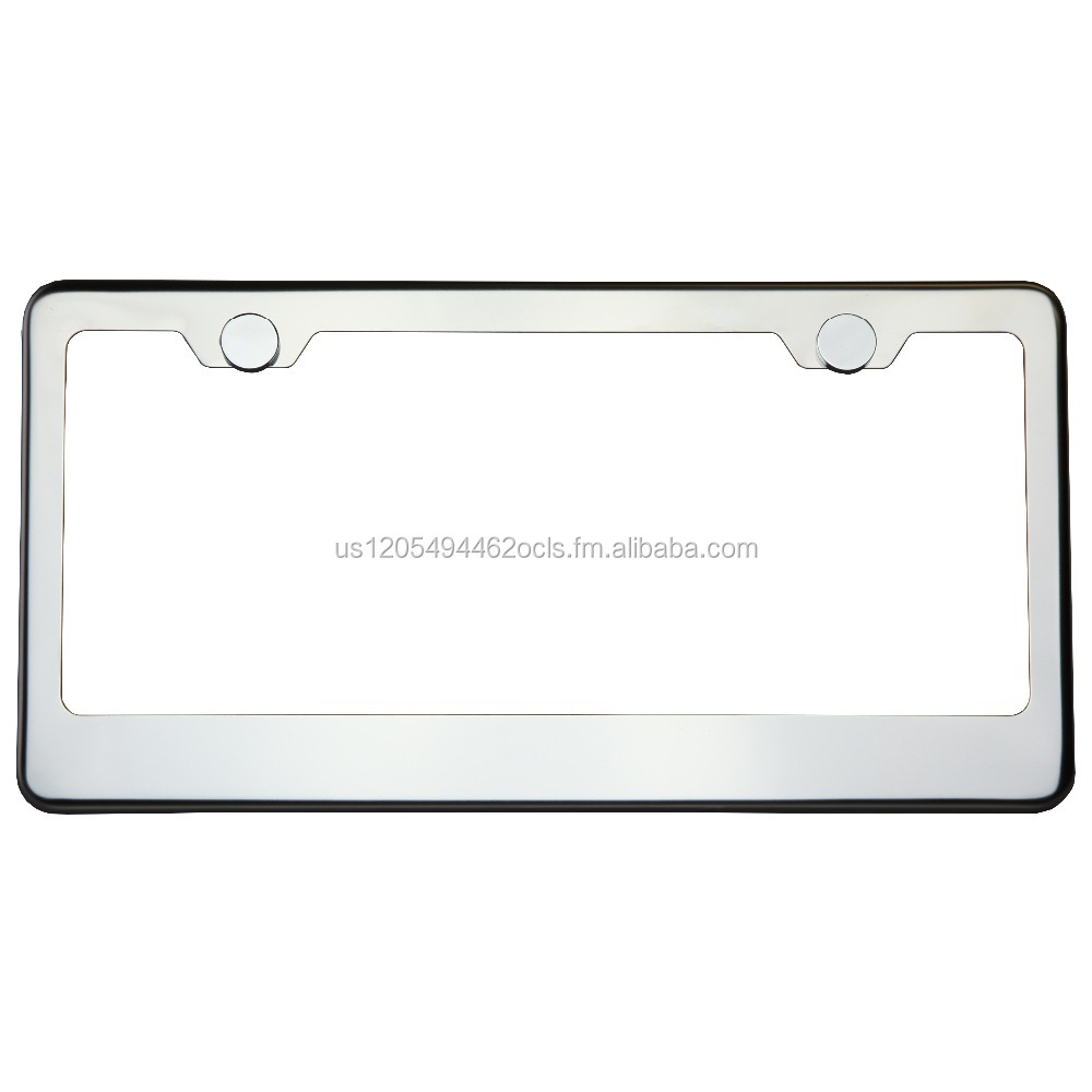 KA DEPOT T304 1mm 8k Steam Polish Chrome Stainless Steel License Plate Frame