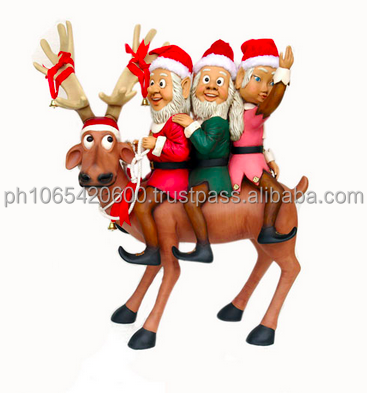 Funny Reindeer Life Size Figures, Over 40 Designs Available
