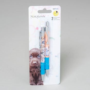 PEN GEL/MECH PENCIL 2 PACK PUPPIES CARDED #91008