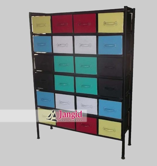 wholesale industrial iron chest of drawers furniture manufacturers india