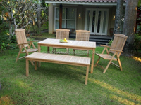Mimosa Set for outdoor and garden furniture made of teak wood