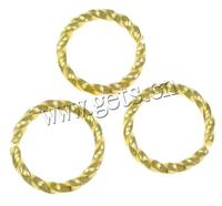 Saw Cut Brass Jump Ring gold color plated 9.5x1mm Hole:Approx 7mm 2000PCs/Lot Sold By Lot