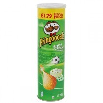 PRINGLES Sour Cream and Onion Chips 190g