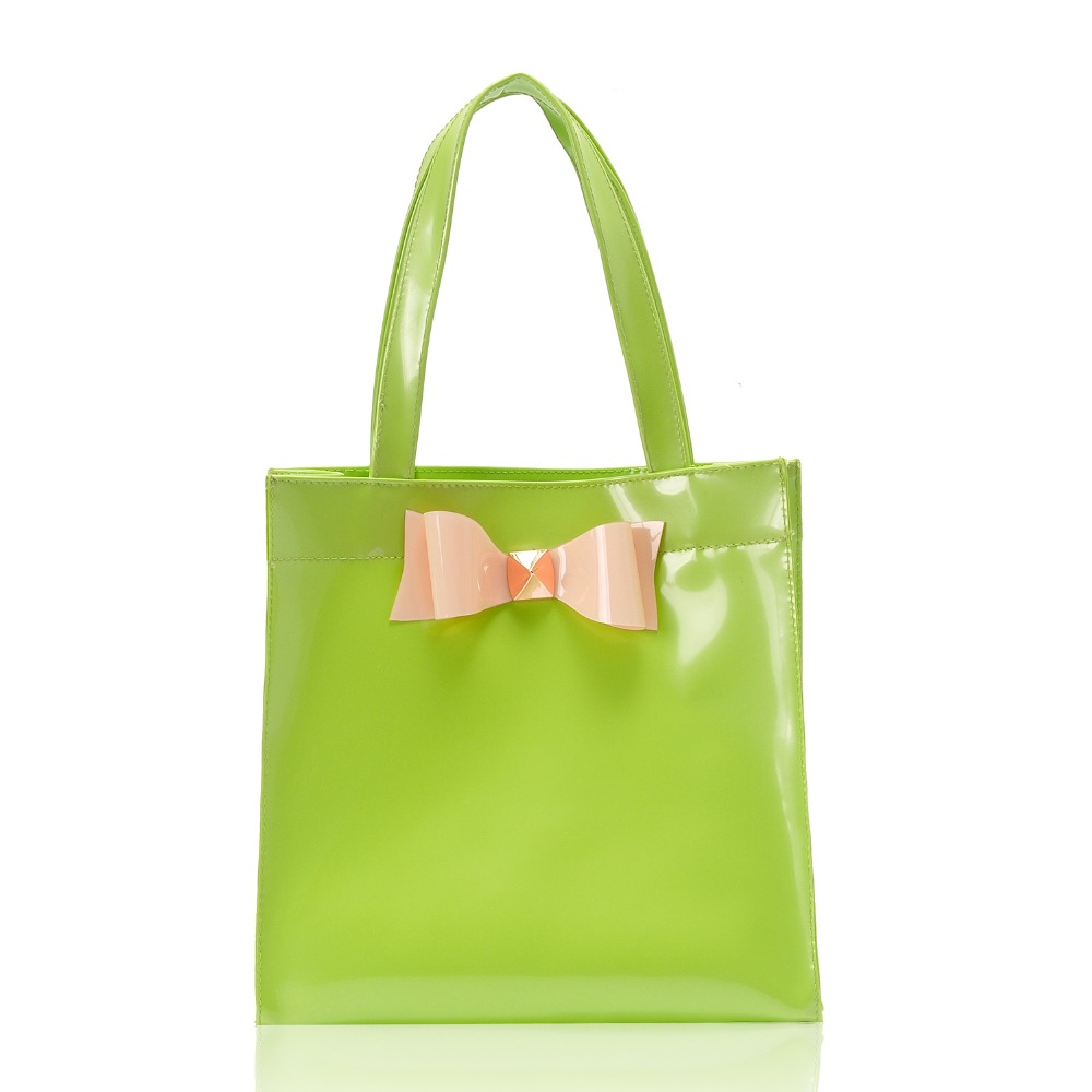 New Fashion Crystal Lovely Iconic Small Size Bow Shopper Bag Women Wholesale Shopping Bag