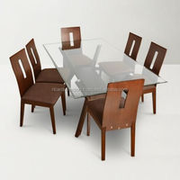 Good prices indian famous brand contemporary styles wooden dining table + chairs