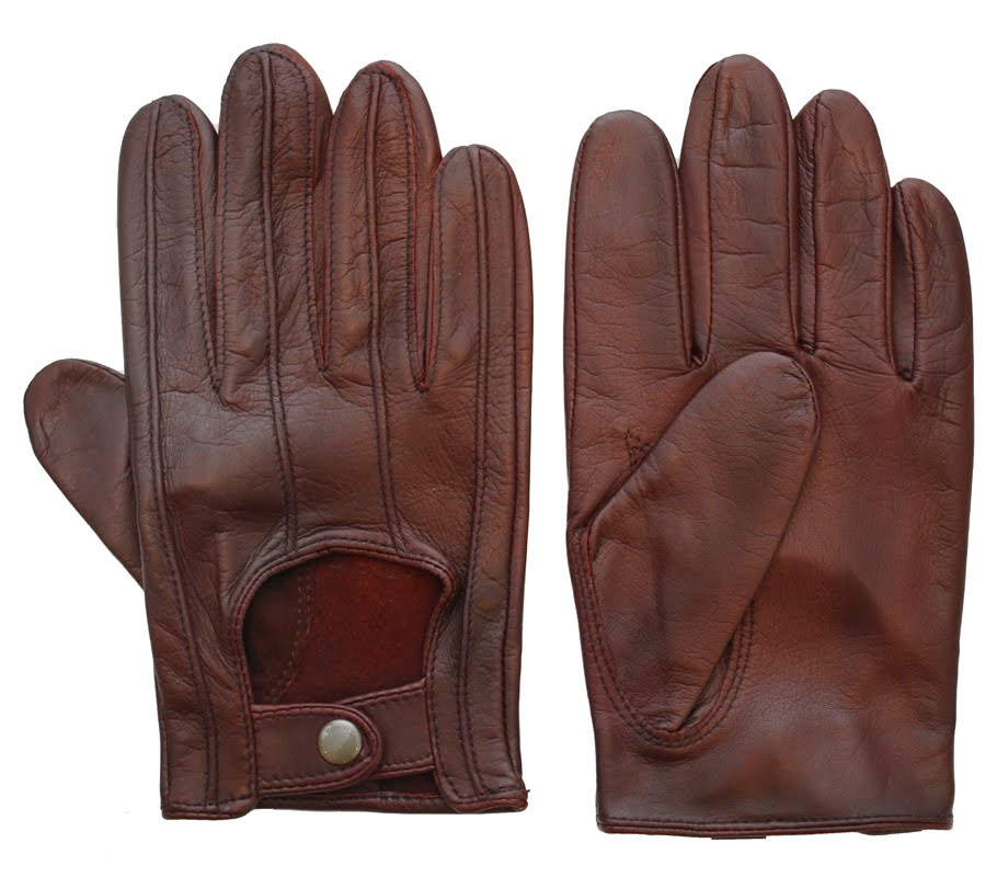 Brown Leather gloves , brown Leather dressing gloves / brown leather driving gloves / brown fashion gloves