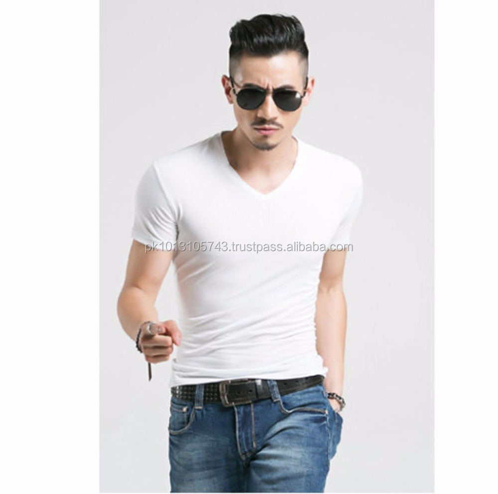 white hot sale slim fit v neck t shirts buy slim fit 100 cotton t. Black Bedroom Furniture Sets. Home Design Ideas
