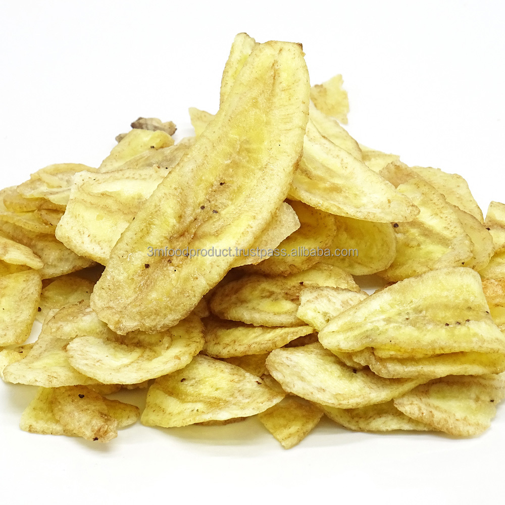 100% Halal banana chip fruits snack from Thailand