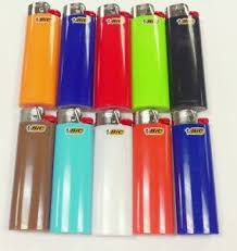 Cigarette Usage and Gas Style Disposable or Refillable like Big Bic Lighters / colored refill lighter