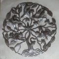 Haitian Tree of Life with Birds Gifts Artisan Crafts Haiti Gifts Fair Trade Home Decor Handmade Wall Art 60cm