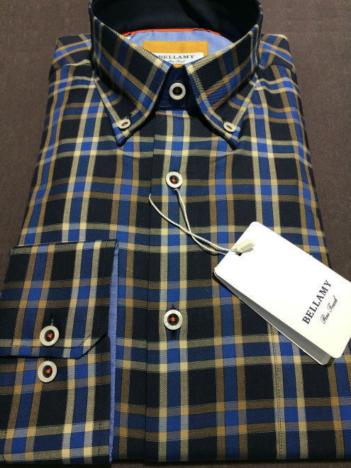 100% cotton plaid men's shirt