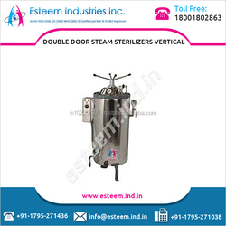 IS Standard 3-Phase 440V/ 50HZ Double Door Steam Sterilizer to Make Medical Equipment Bacteria Free